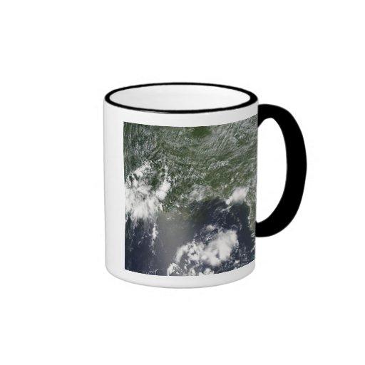 Vista por satélite del Golfo de México Tazas De Café