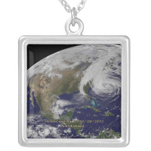 Vista por satélite del huracán Sandy Colgante Cuadrado