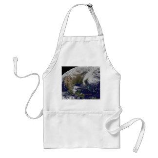 Vista por satélite del huracán Sandy Delantal