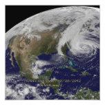 Vista por satélite del huracán Sandy Invitación 13,3 Cm X 13,3cm