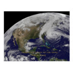 Vista por satélite del huracán Sandy Postal