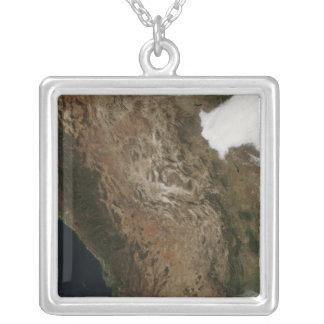 Vista por satélite del paisaje de Mexi central Colgante Cuadrado