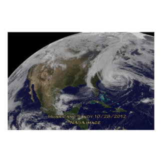 Vista por satélite del poster de Sandy 60x40 del h