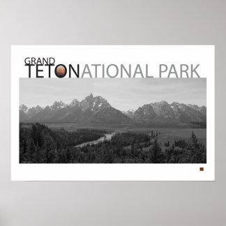 Vista-Poster magnífico de Teton-Ansel Adams