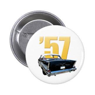 'Vista posterior de Aire del belio de 57 Chevy Pin Redondo De 2 Pulgadas