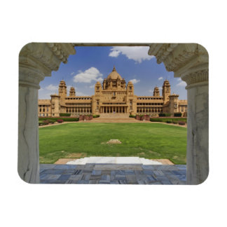 Vista posterior del hotel del palacio de Umaid Bha Imán Rectangular