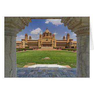 Vista posterior del hotel del palacio de Umaid Bha Tarjeta De Felicitación