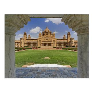 Vista posterior del hotel del palacio de Umaid Tarjeta Postal
