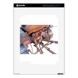 Vista posterior del tractor de correa eslabonada iPad 3 pegatinas skins