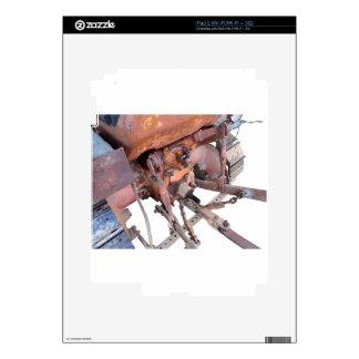 Vista posterior del tractor de correa eslabonada skins para iPad 2