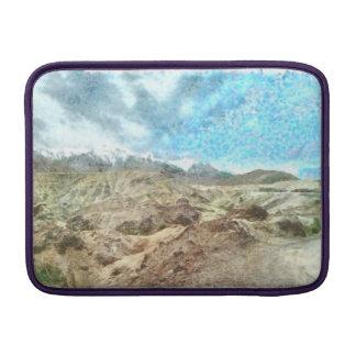 Vista preciosa de montañas funda macbook air