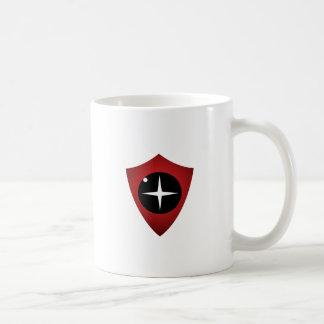 Vista roja taza de café