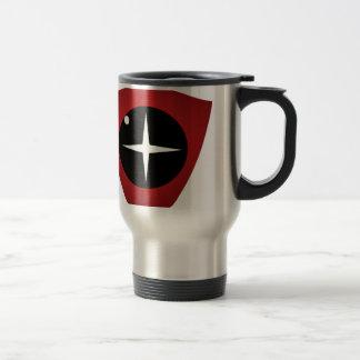 Vista roja taza de viaje