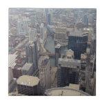 Vista septentrional de Chicago de Torre Sears Teja Ceramica