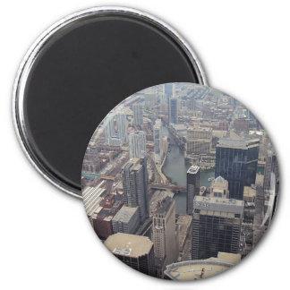 Vista septentrional de Chicago de Torre Sears Imán De Nevera