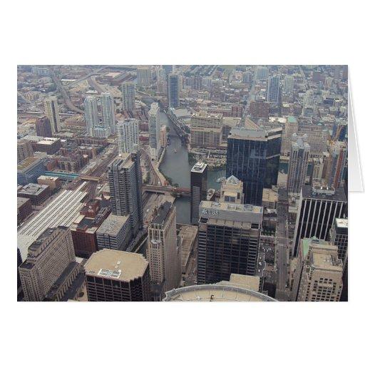 Vista septentrional de Chicago de Torre Sears Felicitación