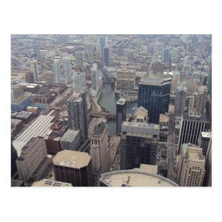 Vista septentrional de Chicago de Torre Sears Postales