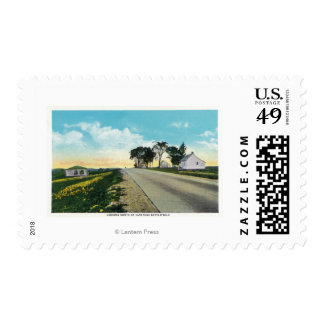 Vista septentrional del campo de batalla de sello postal
