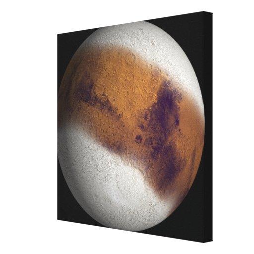 Vista simulada de Marte Impresion De Lienzo