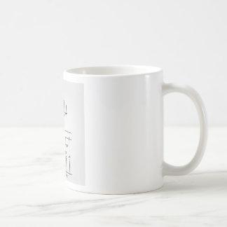 Vista superior y vista delantera de un medio taza de café