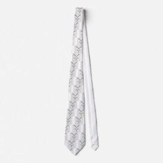 Vista superior y vista delantera de una escalera corbata personalizada