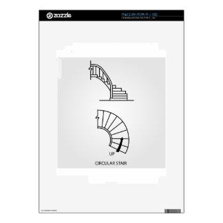 Vista superior y vista lateral de una escalera iPad 2 skins