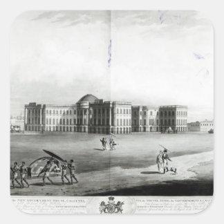 Vista suroriental de la nueva casa del gobierno pegatina cuadrada