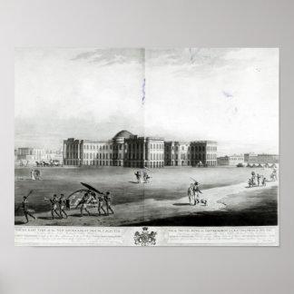 Vista suroriental de la nueva casa del gobierno póster