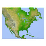 Vista topográfica de Norteamérica Fotos