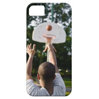 Vista trasera del baloncesto del tiroteo del iPhone 5 fundas