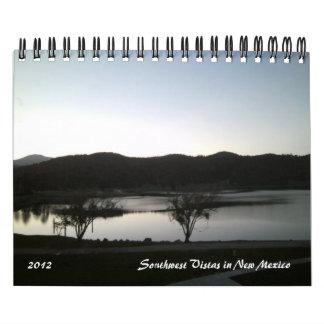 Vistas 2012 del sudoeste en el calendario de New