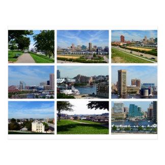 Vistas de Baltimore Tarjeta Postal