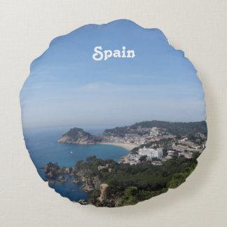 Vistas de la costa española cojín redondo
