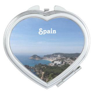Vistas de la costa española espejo de viaje
