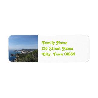 Vistas de la costa española etiquetas de remite
