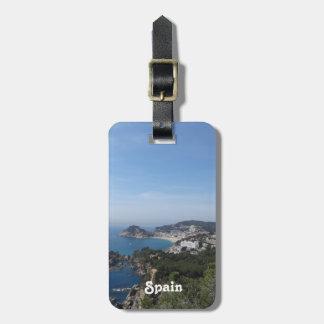 Vistas de la costa española etiquetas para maletas