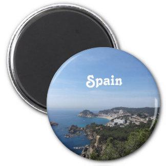 Vistas de la costa española imán redondo 5 cm