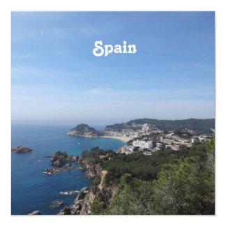 """Vistas de la costa española invitación 5.25"""" x 5.25"""""""