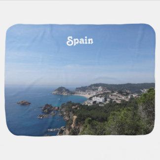 Vistas de la costa española mantitas para bebé