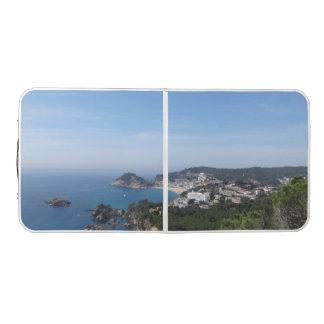 Vistas de la costa española mesa de ping pong