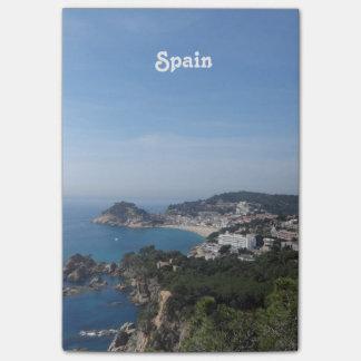 Vistas de la costa española notas post-it®
