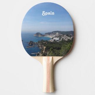 Vistas de la costa española pala de ping pong