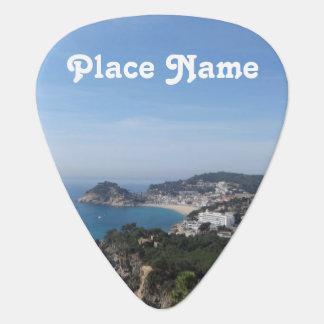 Vistas de la costa española plumilla de guitarra