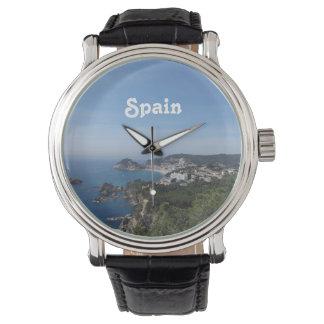 Vistas de la costa española reloj
