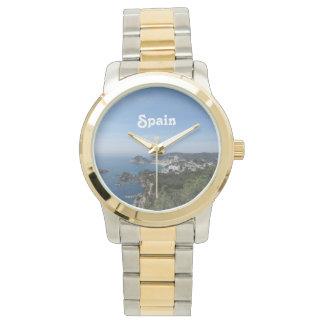 Vistas de la costa española relojes
