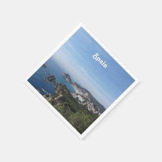 Vistas de la costa española servilleta de papel
