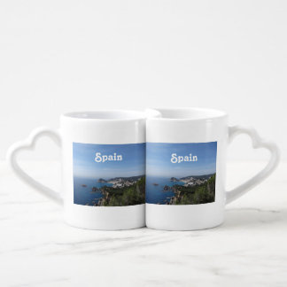 Vistas de la costa española set de tazas de café