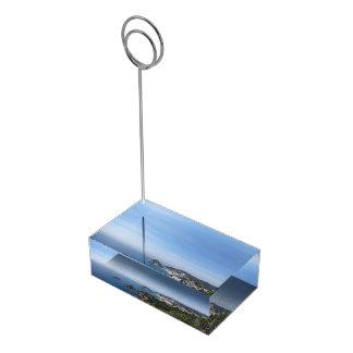 Vistas de la costa española soporte para tarjeta de mesa