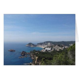Vistas de la costa española tarjeta de felicitación
