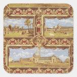 Vistas de la exposición internacional, 1862, Wallp Pegatina Cuadrada